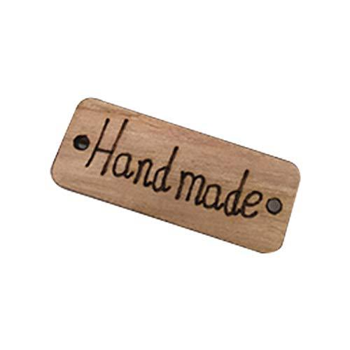 NiceButy 100 Grandes Botones de Madera de Doble Agujero, Accesorios de Vestir del botón Productos para el hogar cosidos a Mano
