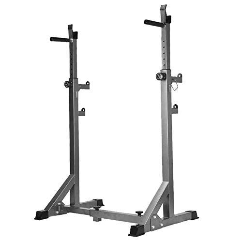 Squat Rack Standsbench Altezza e Larghezza Regolabile Peso Power Rack Supporto per Allenamento di Forza per Palestra Interna Multifunzione Robusto Durevole
