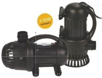 Aquascape AQUASURGE 4000 GPH Pond Pump G2 with Green Vista Protective Pump Bag ($30 Value), Power Cord and More