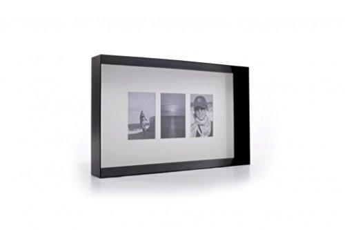 Cadre photo Prado de xlboom pour 3 photos 10 x 15 cm en noir