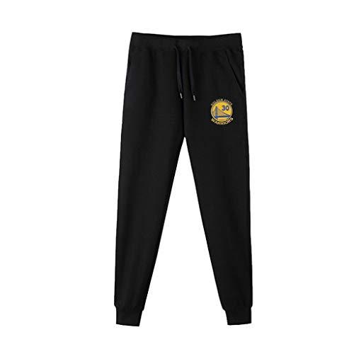 JNTM Uomo di Sport dei Pantaloni NBA Atletica Leggera Formazione di Basket Pantaloni della Tuta Casuale Comodo Logo Pantaloni Larghi Squadra per La Gioventù Golden State Warriors-XXXL