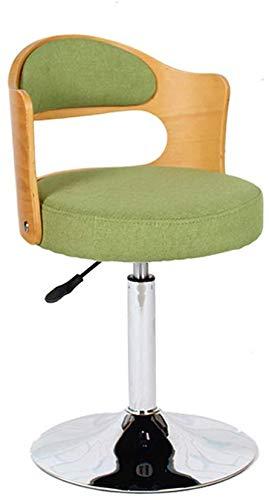 QTQZDD mode draaistoel computer stoel Europese stijl barkruk schommel massief hout terug stoel Ontvangstoelen computer kruk (kleur: groen) 1 1
