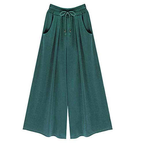 NP Señoras Casual Pantalones Verano Todo Partido Encaje Pantalones Cintura Baja Cinturón Otoño Piernas Anchas