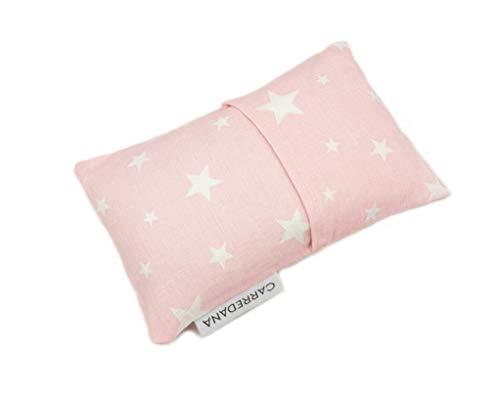 Saco térmico anti-cólicos bebé.Especial recién nacido 17 x 10cm (Rosa estrellas)