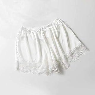 Waymeduo Pantalones cortos sueltos Leggings exteriores de encaje de gran tama?o anti-noche para mujer Pantalones de seguri...