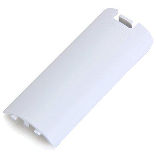 Cikuso Remplacement Couvercle de la Batterie pour Wii Manette sans Fil - Blanc