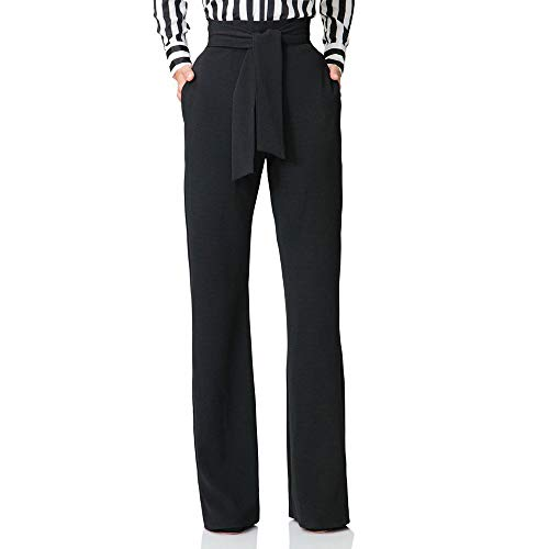Morbuy Mujer Pantalones, Palazzo Elasticos Sexy Vintage Bootcut Casual Desgaste Pantalón Acampanados Elegantes Cómodos Suaves Modernos Sports Danza Partywear (XL, Negro)