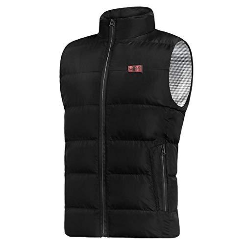 bjyxszd Beheizte Jacke wärmeweste elektrisch,Intelligente elektrische Heizweste mit konstanter Temperatur für Männer,Baumwollweste für Frauen,Aufladen und Heizen,um die Weste zu halten-schwarz_3XL