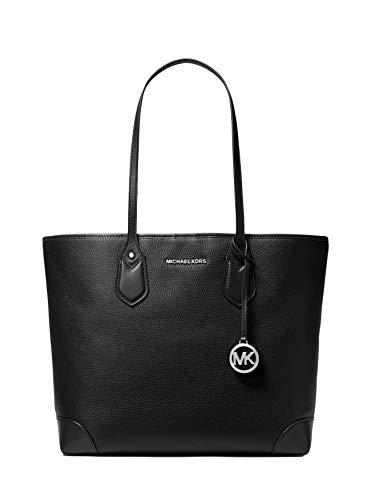 Michael Kors Eva Ladies Medium Black Canvas Tote Bag 30T9SV0T3L-001