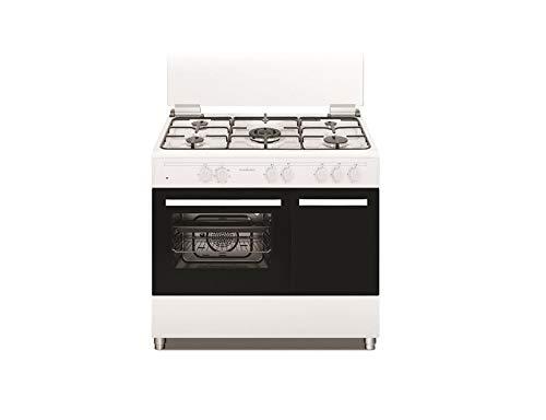 SCHAUB LORENZ Cucina Elettrica SS590EW 5 Fuochi a Gas Forno Elettrico Classe A Dimensioni 90 x 60 cm Colore Bianco