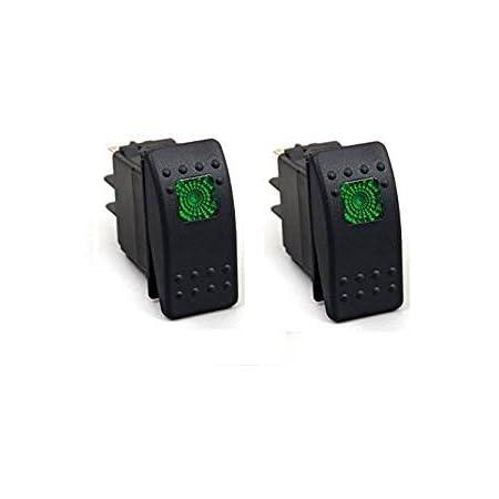 Hotsystem 2 X 12v Wasserdicht Auto Kfz Schalter Wippschalter Ein Ausschalter Led Beleuchtet Wechsel Switch Kippenschalter Grün Auto