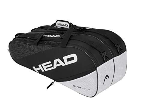 HEAD Unisex-Erwachsene Elite 9R Supercombi Tennistasche, schwarz/weiß