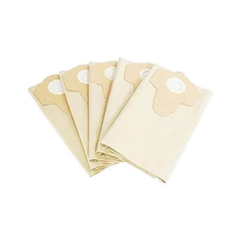 Lot de 5 sacs d'aspirateur indéchirables Parkside 30250133 pour grosses particules - 30 l - Marron - Convient pour aspirateur Parkside Lidl PNTS 1500 A1 B2 B3 23E 30/4 30/6 30/7 30/8 30/9 35/5
