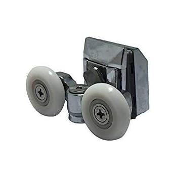 2 ruedas de aleación de zinc para mampara de ducha, 20 mm de ...