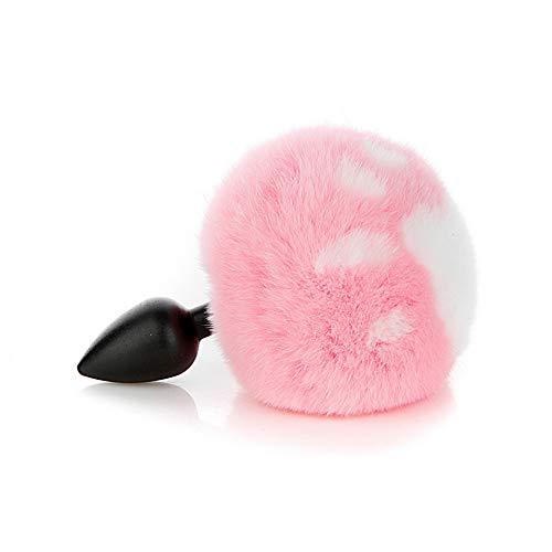 Forme de patte de chat rose Lapin lapin queue et prise plus douce Charms Jeu de rôle Costume Party Masquerade Cosplay Game (M)