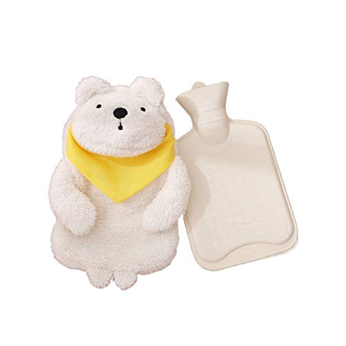 Forart Premium Classic Rubber Hot or Cold Water Bottle with Cute Stuffed Animal Cover Hot Water Bottles Cartoon Warm Water Bag Cute Stuffed Animal Cover