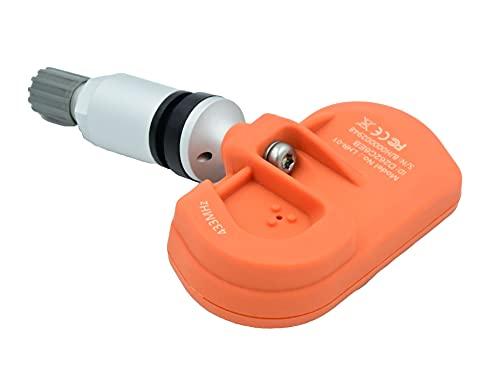 JXD 1 sensor RDKS/TPMS (válvula de metal) compatible con Dacia Duster 1.5 dCi 4x4.