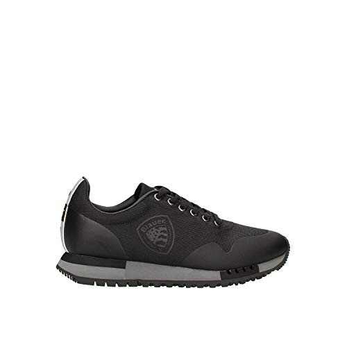 Blauer F0DENVER03-BAL-BLK - Zapatillas deportivas para hombre de tela negra