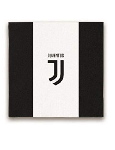Bigiemme TOVAGLIOLI Juventus Juve Bianco Nero 20 PZ 33X33 Decorazioni TAVOLA Compleanno Festa Squadre Calcio, Multicolore