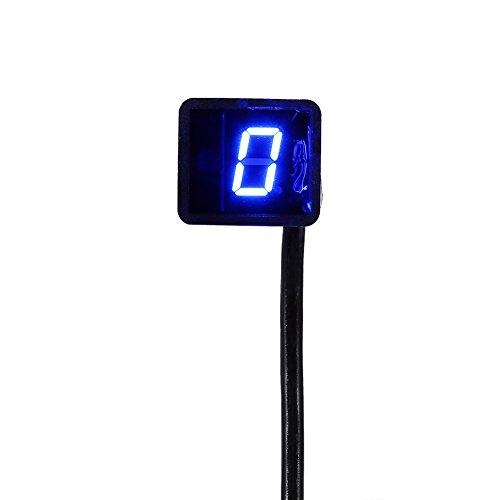 Yosoo Universal Digital LED Gear Indicator Motorcycle Display Shift Lever Sensor Blue
