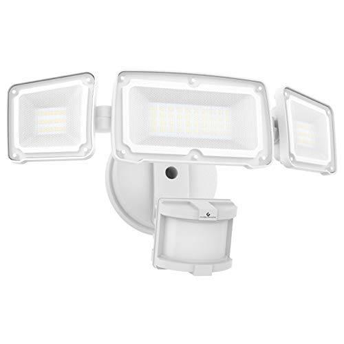 GLORIOUS-LITE 3500LM LED Security Lights, 35W Motion Sensor Light Outdoor, Super Bright 3Head Motion Security Light, IP65 Waterproof, ETL Certified Exterior Flood Light for Garage Yard(NO Solar Power)
