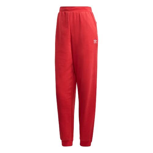 adidas Originals Trefoil Essentials - Pantalones con puños para mujer - rojo - X-Large