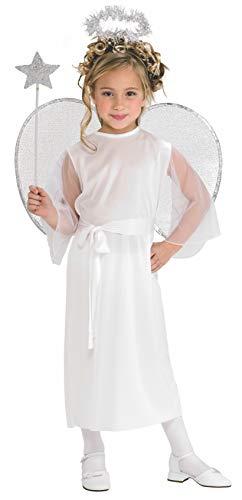 Rubie's Engel - Weihnachten - Halloween - Kinder-Kostüm - Large - 147cm