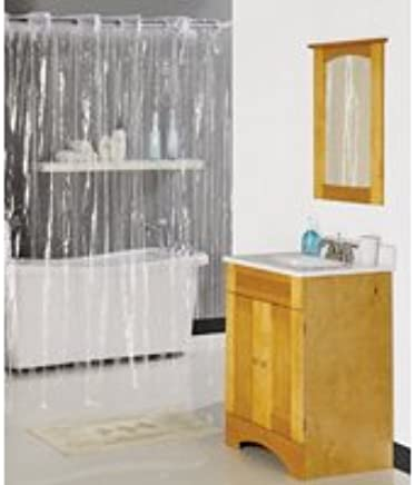 Hookless Clear Shower Curtain.Amazon Com Shower Curtain Hookless 70x72 Clear Home Kitchen