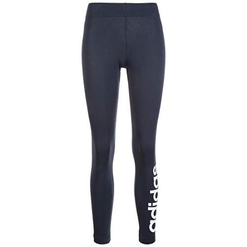 adidas Damen Damen Tights Essential Linear Tights, Legink/White, S/S, DU0676