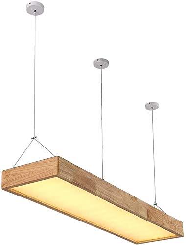 XCXC Sólido Lámpara Colgante De Madera, Lámpara De Techo LED De Roble Nórdico, Minimalista Moderna Oficina Rectangular Lámpara Colgante Lámpara De Techo De Madera Restaurante Bar Japonesa Araña Sólida
