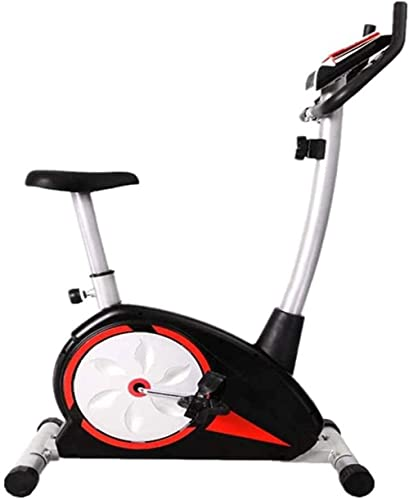 Magnetic Control Elliptical Exercise Bike Elliptical Machine with LCD Display and Heart Rate Test Adjustable 8 Speed Resistance for Office Gym