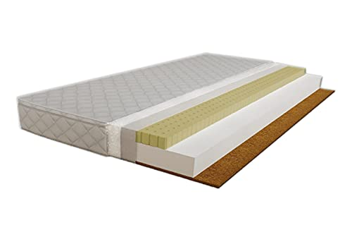 Children's Beds Home - Colchón de fibra de coco de espuma de látex - Tamaño 190x90