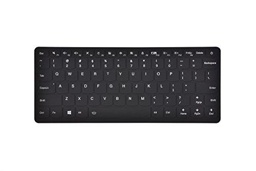 Leze–Ultra Dünn Silikon Laptop-Tastatur Cover Haut Displayschutzfolie für für 33,8cm Lenovo IdeaPad 710S, IdeaPad 510S Ultra-Portables Laptop schwarz schwarz