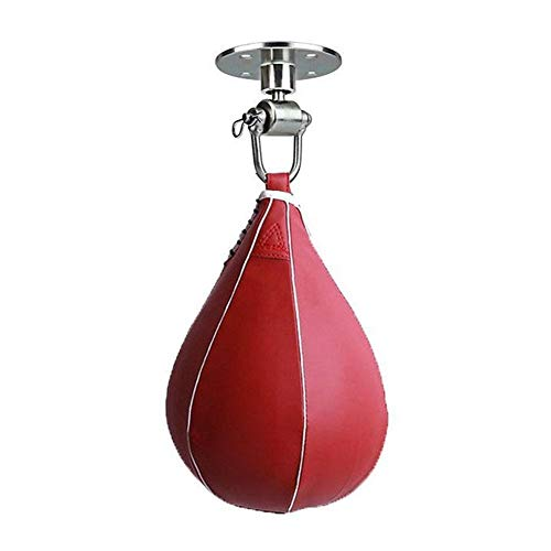 XinXinFeiEr Die Reduzierung Professionelle Sandbags Swivel Boxen Birne Geschwindigkeit Punchingball Basishakenmontage Pera Boxeo Kit Boxsack Speedbag Trainings Lochung (Color : Red)