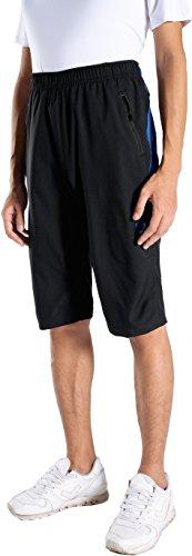 Jeansian Homme Outdoor Quick Dry Casual Men Shorts De Sport LSS157 Blueline XL
