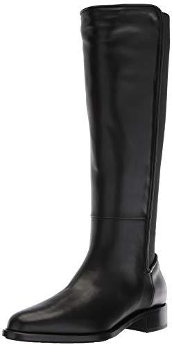 Aquatalia Women's NASTIA Calf/Elastic Fashion Boot, Black, 8.5 M US