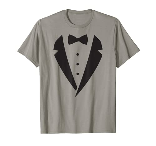 Esmoquin Blanco Divertido Hombre Gran Disfraz Boda Halloween Camiseta
