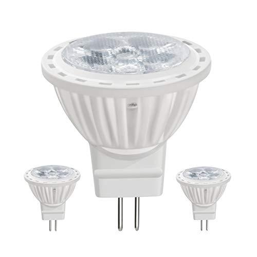 SEAMI GU4 MR11 LED Lampen 4Watt 12V, Ersatz Für 35Watt Halogenlampen, Nicht Dimmbar Warmweiß 3000K LED Birnen, 350LM LED Leuchtmittel(2er-Pack)