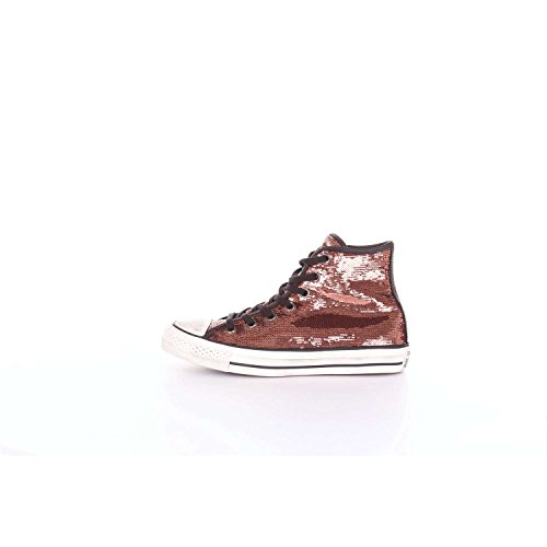 CONVERSE 559039C Kupfer schwarze Schuhe Turnschuhe hohen Kupfer Pailletten Schnürsenkel 38