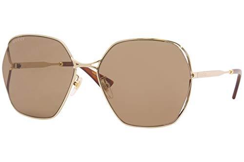 Gucci Gafas de sol GG0818SA 002 Gafas de sol mujer color Marrón dorado tamaño de lente 63 mm