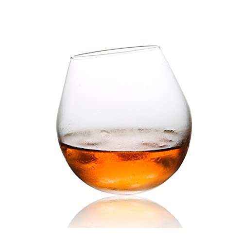 Yuanyuan Forma Esférica Whiskey Vaso De Vidrio Brandy Snifters Shaky Chateau Whisky Cognac Cup Bar Sphere Ball Roly-Poly Vin's Gafas (Capacity : 330ml 14oz, Color : 1 Pcs)