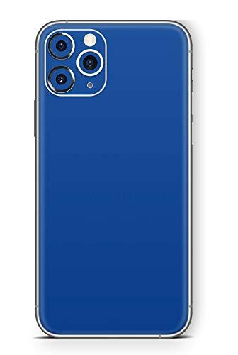 Skins4u Ultra Slim Schutzfolie für iPhone 11 Pro Skins Matte Oberfläche Aufkleber Skin Klebefolie Kratzfest Case Cover Folie Solid State Darkblue