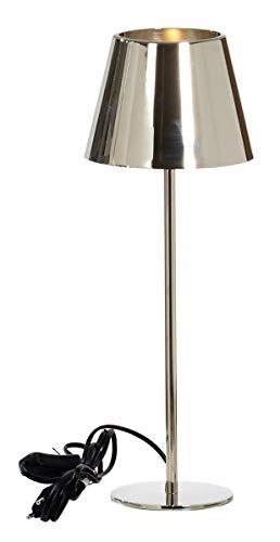 Kaheku Lampe Somerset Messing vernickelt, Durchmesser 18 cm, Höhe 50 cm 939001993