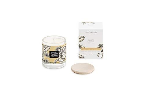 DECORAGLOBA - Vela aromática en vaso de cristal - Fragancia Sombras de...