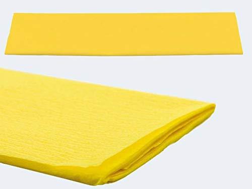 Crêpe papier 50 x 250 cm, (geel) 1 rol
