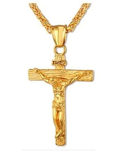 Akamori Cuello Moderno Todo Coincidencia Collar de Pascua jesús Cruzado Colgante Cristiano religioso tótem joyería DE Moda Regalo for Tus Amigos, Familiares, Parejas