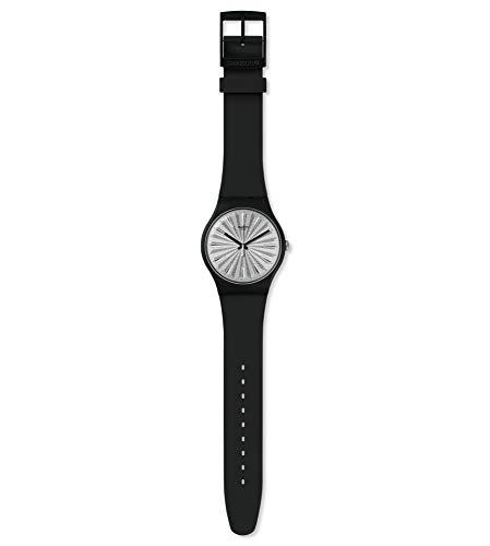 Swatch Damen Analog Schweizer Quarz Uhr mit Silicone Armband SUOB172