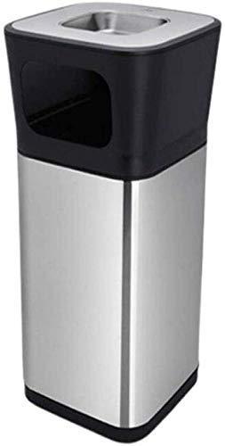 SHAOXI Trash/Mülleimer Mülleimer Platz Standascher Mülleimer Zigarette Ist Außen Edelstahl Trash Can Hotel Mall Mülleimer Chrome Mülleimer (Farbe: Chrom, Größe: 15l) Trash Can Papierkorb