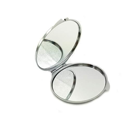 Fliyeong Premium Qualität 1 Stück Frauen Tragbaren Spiegel, Mädchen Make-Up Kosmetische Doppelseite Folding Reisen Taschenspiegel 7 cm Runde