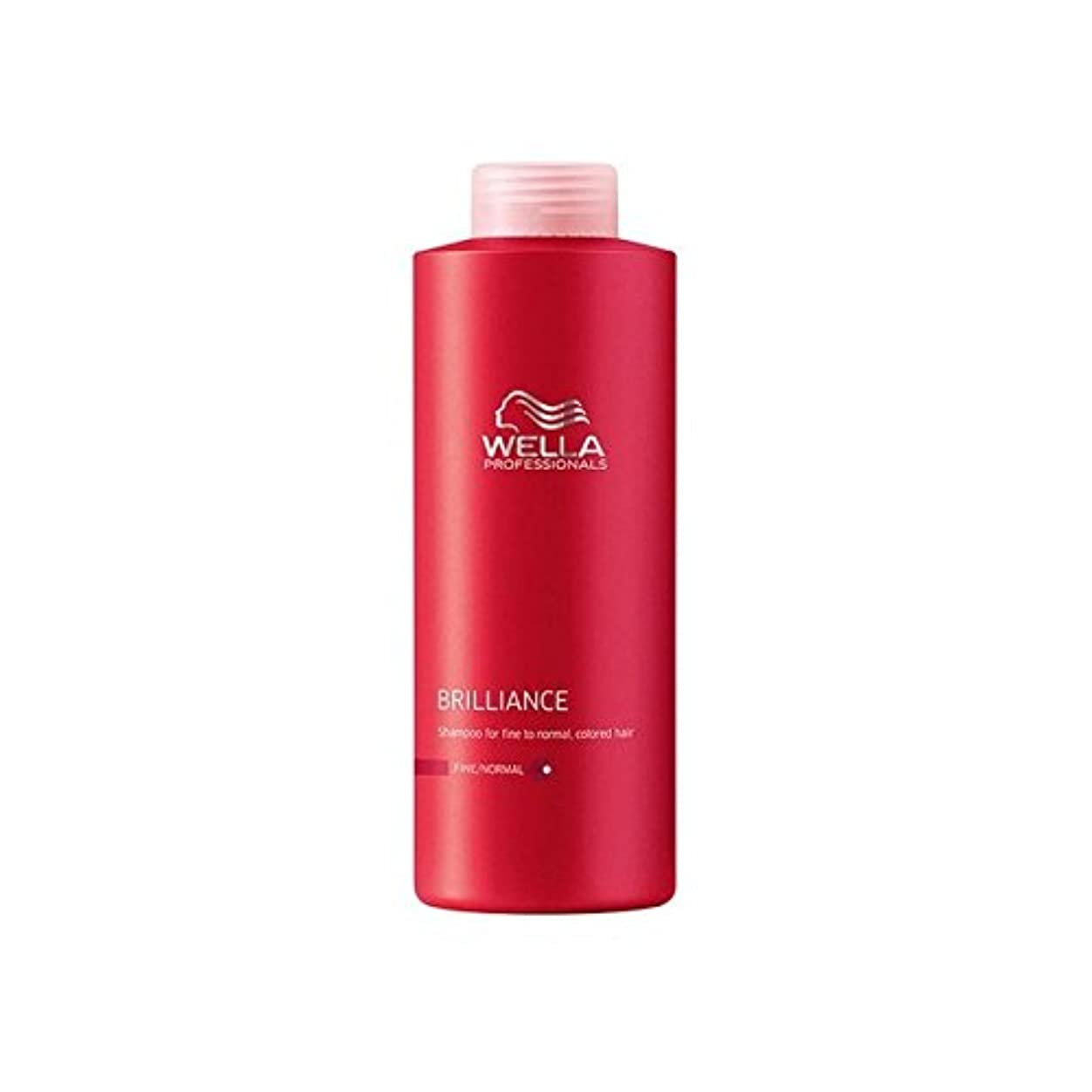 差し引く声を出して銀行ウェラの専門家は細かいシャンプー(千ミリリットル)をブリリアンス x4 - Wella Professionals Brilliance Fine Shampoo (1000ml) (Pack of 4) [並行輸入品]